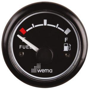 Tankmeter fuel zwart