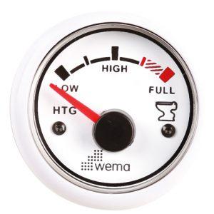 Tankmeter vuilwater wit