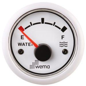 Tankmeter water wit