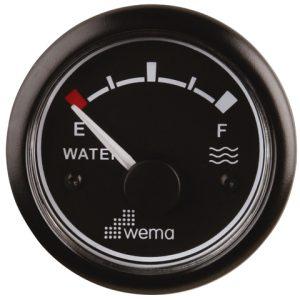 Tankmeter water zwart