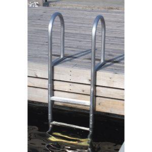 Zwemtrap aluminium 3 of 5 treden