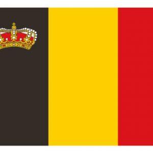 Belgische vlag met kroon