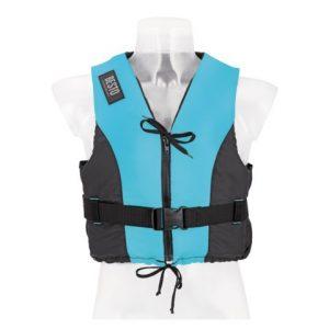 Besto dinghy zipper aqua-zwart voorkant