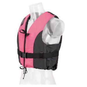Besto dinghy zipper pink-zwart striping zijkant