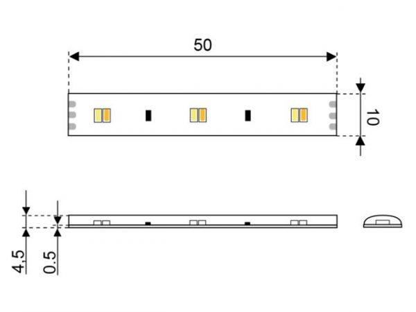 LED120 lichtband 12V ww en kw