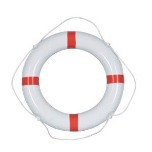 Reddingsboei PVC wit rood