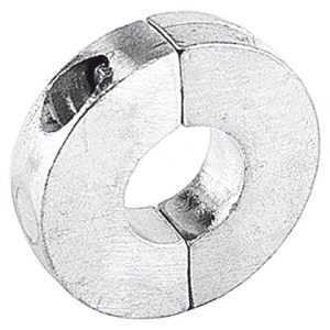 Schroefas anode platte uitvoering