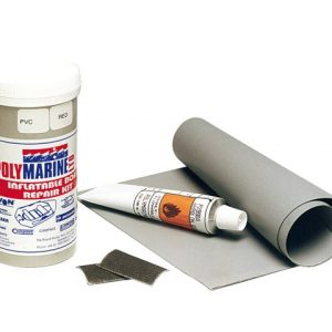 reparatieset voor je opblaasboot in de kleur grijs
